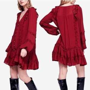 NWT Free People Snow Angel Mini Dress